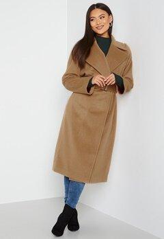 GANT Wool Blend Belted Coat 213 Warm Khaki bubbleroom.dk
