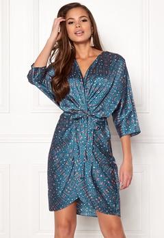 Twist & Tango Georgina Dress Blue Flower Print Bubbleroom.dk
