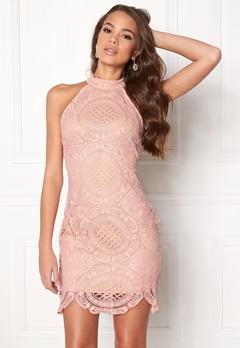 Girl In Mind Amber Lace Mini Dress Pink Bubbleroom.dk