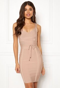 Girl In Mind Arabella Bodycon Dress Nude Bubbleroom.dk