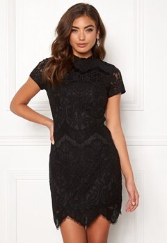 Girl In Mind Emilia Lace Mini Dress Black Bubbleroom.dk