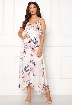 Girl In Mind Evie Floral Midi Dress White Bubbleroom.dk