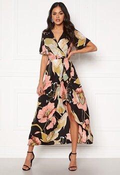 Girl In Mind Farren Split Maxi Dress Peach Bubbleroom.dk