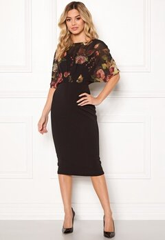 Girl In Mind Felicity Print Midi Dress Blk Print Bubbleroom.dk