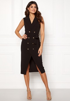 Girl In Mind Grace Blazer Midi Dress Blk Bubbleroom.dk