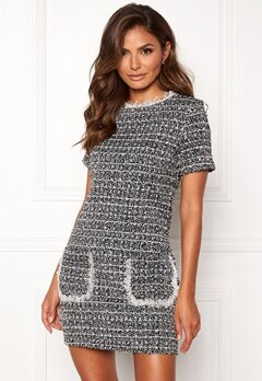 Girl In Mind Hallie Tweed Shift Dress Blk Bubbleroom.dk