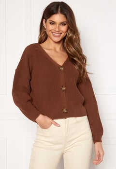 Girl In Mind Kiera Relaxed Fit Cardigan Rust Rust Bubbleroom.dk