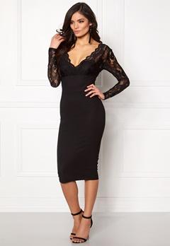 Girl In Mind Lace Bodycon Dress Black Bubbleroom.dk
