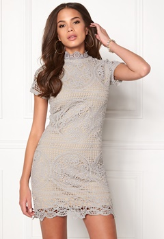 Girl In Mind Lace Dress Grey Bubbleroom.dk