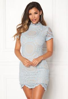 Girl In Mind Lace Dress Light Blue Bubbleroom.dk