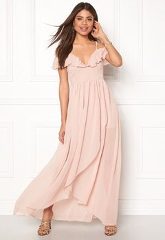 Girl In Mind Maxi Flow Dress Light Pink Bubbleroom.dk