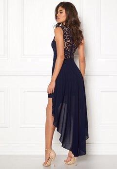 Girl In Mind Midi Lace Dress Navy Bubbleroom.dk