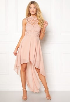 Girl In Mind Midi Lace Dress Pink Bubbleroom.dk