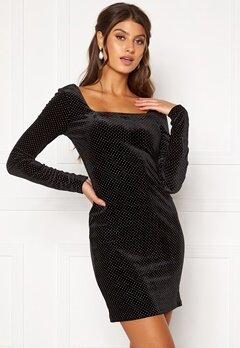 Girl In Mind Naomi Silver Dot Dress Black Bubbleroom.dk