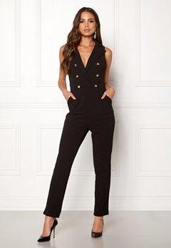 Girl In Mind Tailored V Neck Jumpsuit Black Bubbleroom.dk