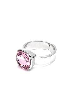 BY JOLIMA Glam Crystal Ring Light Rose Silver Bubbleroom.dk