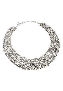 Love Rocks Glamour Crystal Collar Silver colour Bubbleroom.dk