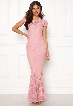 Goddiva Cap Sleeve Lace Dress Blush Bubbleroom.dk
