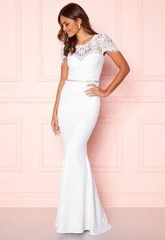 Goddiva Cap Sleeve Wedding Dress White Bubbleroom.dk