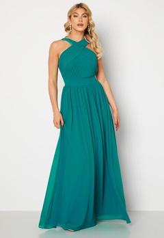 Goddiva Cross Front Chiffon Maxi Dress Sapphire bubbleroom.dk