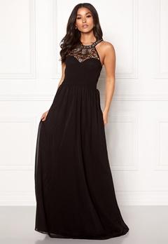 Goddiva Embellished Chiffon Dress Black Bubbleroom.dk