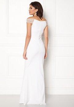 Goddiva Embellished Maxi Dress White Bubbleroom.dk