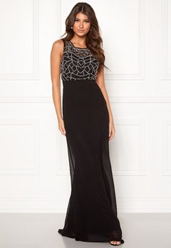 Goddiva Embellshed Maxi Dress Black Bubbleroom.dk