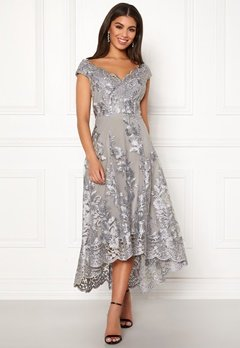 1ef74ccb9ed2 Goddiva Embroidered Lace Dress Silver Bubbleroom.dk