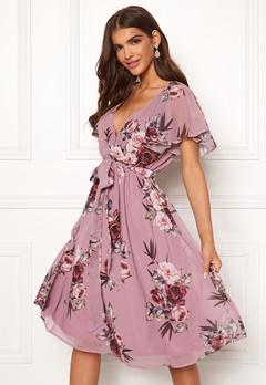 1ffd069d Goddiva Floral Flutter Midi Dress Lavender Bubbleroom.dk