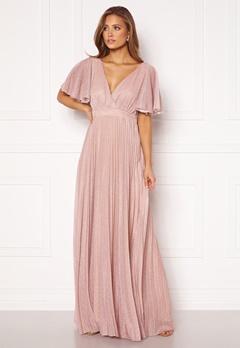 Goddiva Flutter Glitter Dress Blush bubbleroom.dk