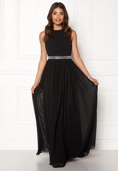 Goddiva Halter Neck Chiffon Dress Black Bubbleroom.dk