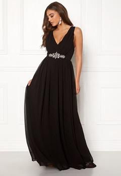 Goddiva Jewelled Maxi Dress Black Bubbleroom.dk