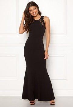 Goddiva Lace Fishtail Maxi Dress Black Bubbleroom.dk