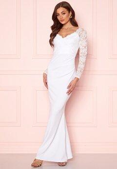 Goddiva Long Sleeve Lace Dress White bubbleroom.dk