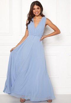 Goddiva Multi Tie Chiffon Dress Blue Bubbleroom.dk