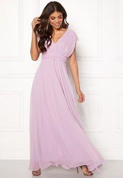 Goddiva Multi Tie Chiffon Dress Iris Bubbleroom.dk