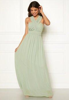 Goddiva Multi Tie Chiffon Dress Sage Green Bubbleroom.dk