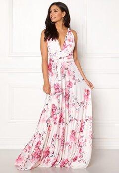 Goddiva Multi Tie Maxi Dress Floral Print Bubbleroom.dk