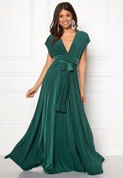 Goddiva Multi Tie Maxi Dress Green Bubbleroom.dk
