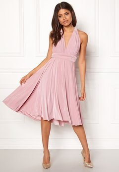 Goddiva Multi Tie Midi Dress Dusty Pink Bubbleroom.dk