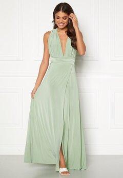 Goddiva Multi Tie Wrap Maxi Dress Dusty Green Bubbleroom.dk