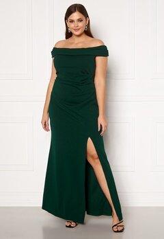 Goddiva Off Shoulder Maxi Curve Dress Green Bubbleroom.dk