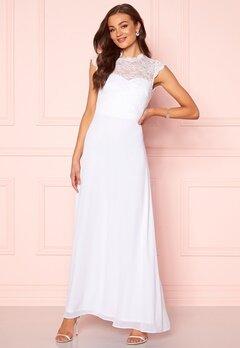 Goddiva Open Back Lace Maxi Dress White Bubbleroom.dk