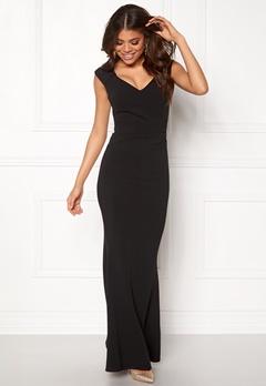 Goddiva Pleated Maxi Dress Black Bubbleroom.dk