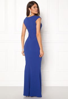Goddiva Pleated Maxi Dress Royal Blue Bubbleroom.dk