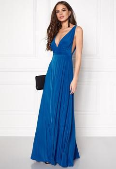 Goddiva Pleated Oscar Dress Royal Blue Bubbleroom.dk
