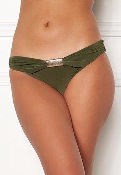 Goddiva Resort Halterneck Bikini Bottom khaki Bubbleroom.dk