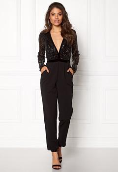Goddiva Sequin Bodice Jumpsuit Black Bubbleroom.dk