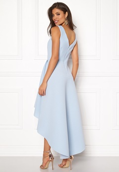 Goddiva Sleeveless High Low Dress Light Blue Bubbleroom.dk