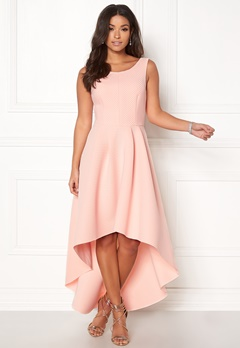 Goddiva Sleeveless High Low Dress Nude Bubbleroom.dk